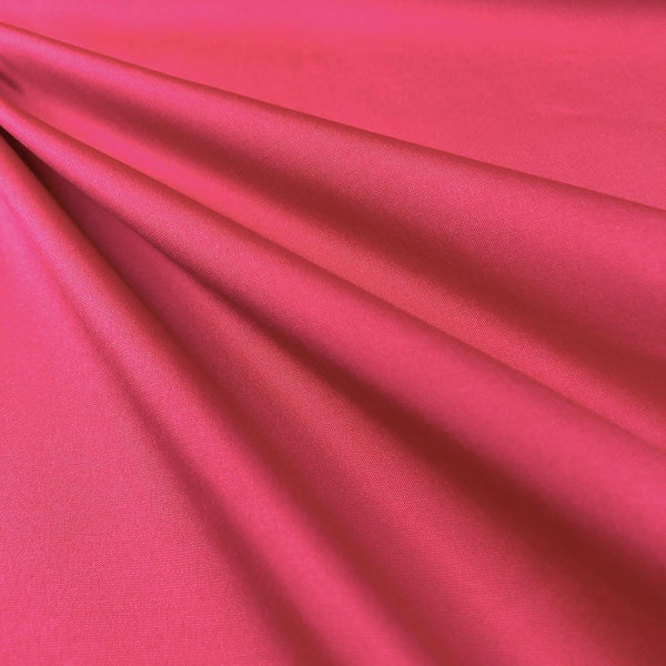 "Polyester Taffeta Lining Fabric 54"" Wide Fabric Sold By The Yard. Fuchsia"