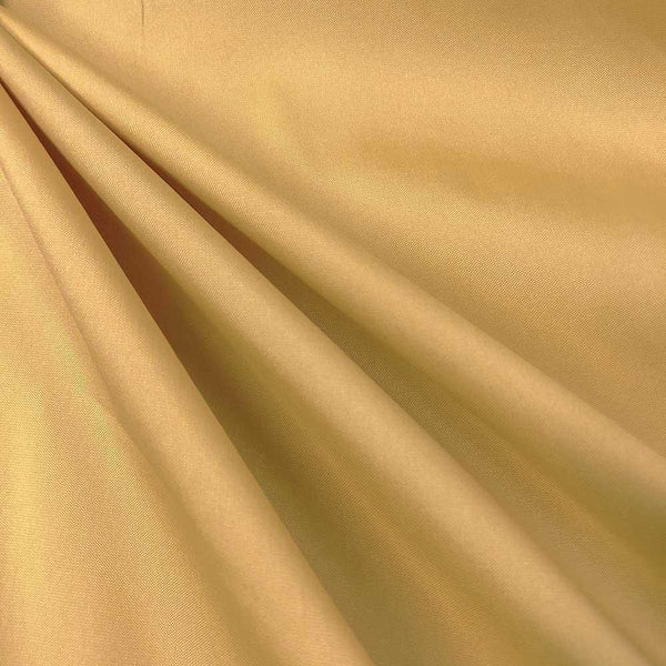 "Polyester Taffeta Lining Fabric 54"" Wide Fabric Sold By The Yard. Gold"