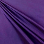 "Polyester Taffeta Lining Fabric 54"" Wide Fabric Sold By The Yard. Purple"
