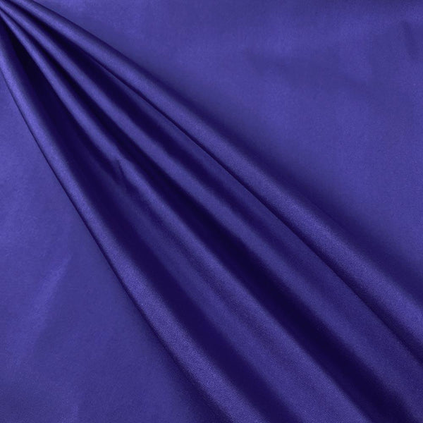 "Polyester Taffeta Lining Fabric 54"" Wide Fabric Sold By The Yard. Royal"