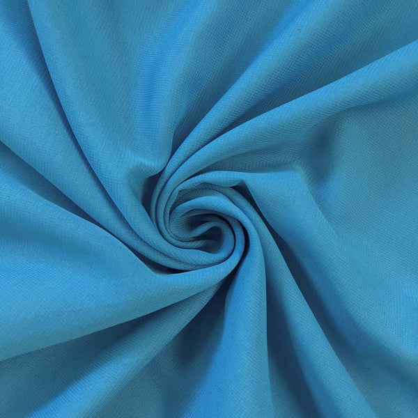Turquoise Chiffon Fabric Polyester Sheer 58'' Wide By the Yard for Garments Decoration Crafts special occasions bridesmaid dresses and more.