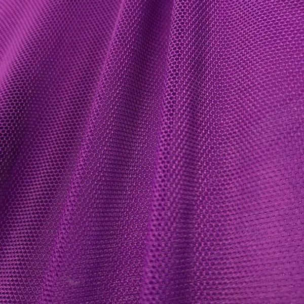 "Solid Power Mesh Fabric Nylon Spandex 60"" wide Stretch Sold By Yard Violet"