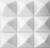 "SOUNDPROOF FOAM ACOUSTIC FOAM 12 PACK KIT PYRAMID WHITE 4"" 24"" X 24"" COVERS 48SQ FT - SOUNDPROOFING/BLOCKING/ABSORBING ACOUSTICAL FOAM - MADE IN THE USA! - Supreme Acoustics"