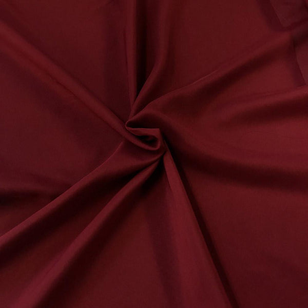 Burgundy Chiffon Fabric Polyester Sheer 58'' Wide By the Yard for Garments Decoration, Crafts special occasions, bridesmaid dresses and more