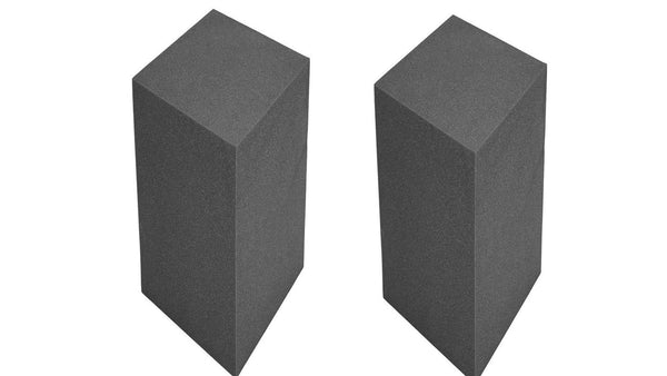 "Acoustic Bass Trap Corner Block for Low Wave Frequency Studio Soundproofing 12"" X 12"" X 48"" (2 Blocks ) - Supreme Acoustics"