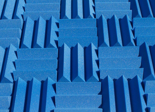 "4"" Blue Acoustic Foam (12 Pack Kit) - Wedge 4"" 12"" x 12"" covers 12sq Ft - SoundProofing/Blocking/Absorbing Acoustical Foam - Made In USA!"