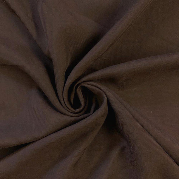Brown Chiffon Fabric Polyester Sheer 58'' Wide By the Yard for Garments, Decoration, Crafts special occasions, bridesmaid dresses and more.