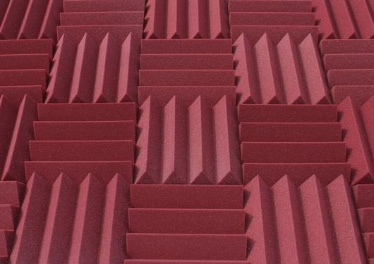 "3"" Burgundy Acoustic Foam (12 Pack Kit) - Wedge 3"" 12"" x 12"" covers 12sq Ft SoundProofing/Blocking/Absorbing Acoustical Foam - Made In USA!"