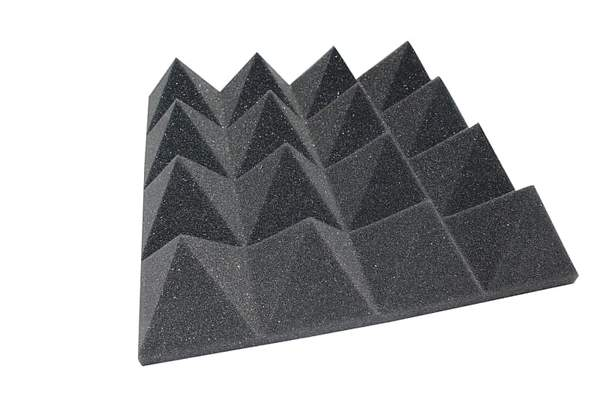 "ACOUSTIC FOAM 3"" THICK CHARCOAL PYRAMID STYLE 6FT X 8FT SHEET ( 48 SQFT) - Supreme Acoustics"