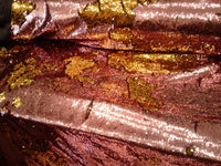 Flip-Up Mermaid Reversible Sequins(Dusty Rose/Gold)Two Tone By Yard