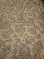 Floral New Lurex Paisley Silver Elegant Bridal Lace Fabric Embroidery By Yard
