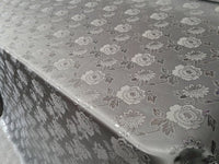 "Elegant Silver Floral Silver Metallic Jacquard Brocade 60"" By the Yard"