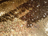 Flip-Up Mermaid Reversible Sequins (Champagne/Black)Two Tone By Yard
