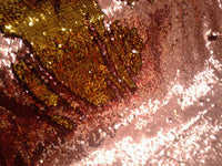 Flip-Up Mermaid Reversible Sequins (Dusty Rose/Silver)Two Tone By Yard