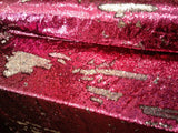 Flip-Up Mermaid Reversible Sequins (Fuschia/Silver)Two Tone By Yard