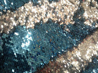 Flip-Up Mermaid Reversible Sequins (Turquoise/Silver)Two Tone By Yard