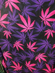 All over marihuana leafs on poly spandex fabric sold by the yard - Supreme Acoustics