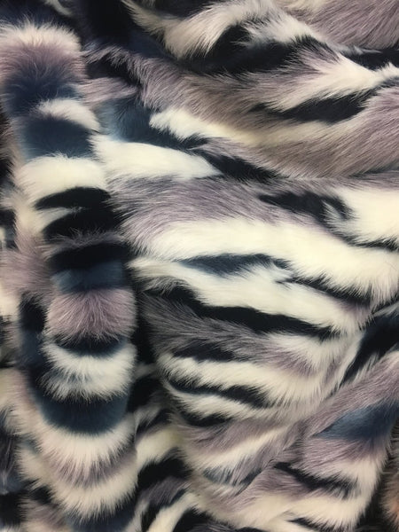 Camouflage Fake Fur Fabric / Army Glacier / Sold By The Yard