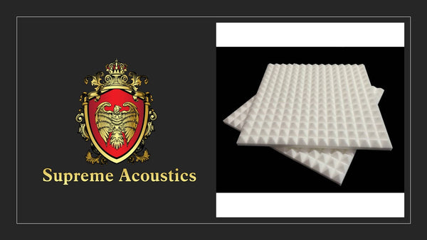 "SupremeWhite Pyramid 1""X 12""X 12"" Sound Proofing Sound Proofing/Blocking 48 Pck)"