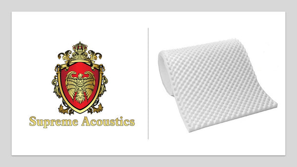 "Acoustics 2.5"" Acoustic Foam White Egg Crate 2-1/2"" X 72"" X 80"" Covers 40sq Ft"