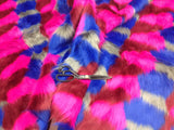 "Faux Fake Fur 4 tone Clown Desings Long Pile Fabric 60"" width. Sold by yard"