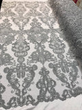 Lace Fabric - Embroidered Sequin Mesh Gay Bridal Wedding Dress By The yard