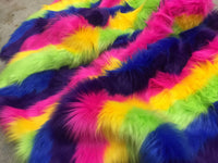 Rainbow Striped Faux Fur - Rainbow - BY The Yard DIY Costume Accessories