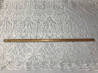Beaded Fabric - White Embroidered Lace Beads By The Yard For Bridal Veil Mesh Dress Top Wedding Decoration