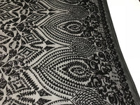 Sequins Fabric - Black 4 Way Stretch Embroider Power Mesh Dress Top Fashion Prom Wedding Decoration By The Yard - Supreme Acoustics