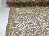 Shop Lace Fabric Beaded Fabric Lt Gold Lace Heavy Beads For Bridal Veil Mesh Dress Top Wedding Decoration By The Yard