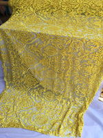 Yellow Design Embroider Beaded Mesh Dress Wedding Decoration Bridal Veil Nightgown By Yard night gowns Skirts prom dresses wedding dresses