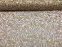 Guipure Lace Fabric Gold By The Yard Embroidered Bridal Veil Lace Guipure Wedding Dress-Gupure-Prom-Gown Guipure Decoration