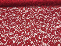 Guipure Lace Fabric Burgundy By The Yard Embroidered Bridal Veil Lace Guipure Wedding Dress-Gupure-Prom-Gown Guipure Decoration - Supreme Acoustics