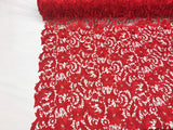 Guipure Lace Fabric Red By The Yard Embroidered Bridal Veil Lace Guipure Wedding Dress-Gupure-Prom-Gown Guipure Decoration