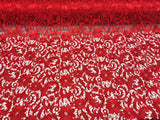 Guipure Lace Fabric Red By The Yard Embroidered Bridal Veil Lace Guipure Wedding Dress-Gupure-Prom-Gown Guipure Decoration - Supreme Acoustics