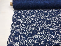 Guipure Lace Fabric Navy Blue By The Yard Embroidered Bridal Veil Lace Guipure Wedding Dress-Gupure-Prom-Gown Guipure Decoration