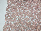 Guipure Lace Fabric BLUSH ROSE By The Yard Embroidered Bridal Veil Lace Guipure Wedding Dress-Gupure-Prom-Gown Guipure Decoration - Supreme Acoustics