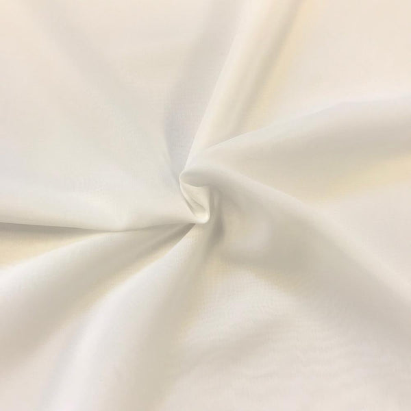 OffWhite Chiffon Fabric Polyester Sheer 58'' Wide By the Yard for Garments Decoration, Crafts special occasions, bridesmaid dresses and more
