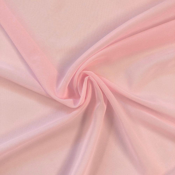 Pink Chiffon Fabric Polyester Sheer 58'' Wide By the Yard for Garments, Decoration, Crafts special occasions, bridesmaid dresses and more. - Supreme Acoustics