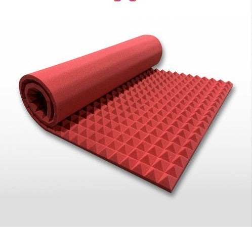 "Red 2"" X 48"" X 96"" Soundproofing Acoustic Foam Sound Absorption Pyramid Studio Treatment Wall Panel, 96"" X 48"" X 2"""