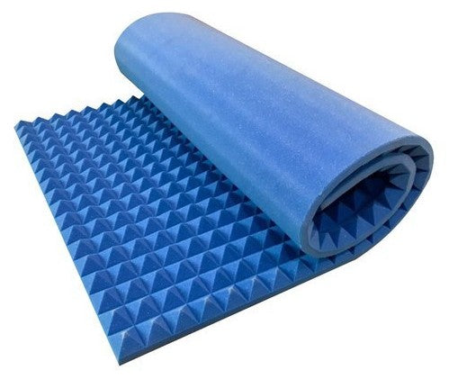 "Blue 2"" X 48"" X 96"" Soundproofing Acoustic Foam Sound Absorption Pyramid Studio Treatment Wall Panel, 96"" X 48"" X 2"""