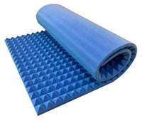 "Blue 2"" X 36"" X 96"" Soundproofing Acoustic Foam Sound Absorption Pyramid Studio Treatment Wall Panel, 96"" X 36"" X 2"""