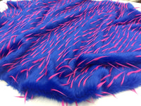 Luxurious Faux Fur Fabric Multicolor Royal Red. Sold By The Yard