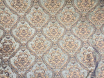 Chenille upholstery Drapery Damask Sage Gold Print furniture fabric sold BTY - Supreme Acoustics