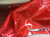 VINYL FAUX FAKE LEATHER UPHOLSTERY SPARKLE GLITTER FABRIC SOLD YARD RED