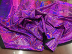 Snake Design Tail Scale Sparkle Hologram Nylon Spandex Fuchsia By The Yard - Supreme Acoustics