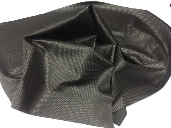 PRO LATTICE BASKET WEAVE UPHOLSTERY VINYL FABRIC Black BY THE YARD PU LEATHER