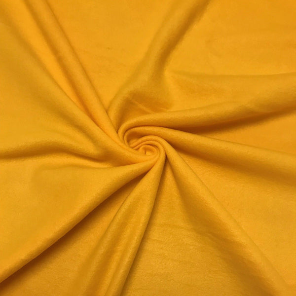 Anti Pill Polar Fleece Solid Sold By The Yard Bright Yellow - Supreme Acoustics