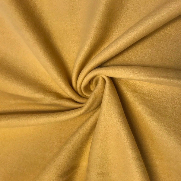 Anti Pill Polar Fleece Solid Sold By The Yard Gold - Supreme Acoustics