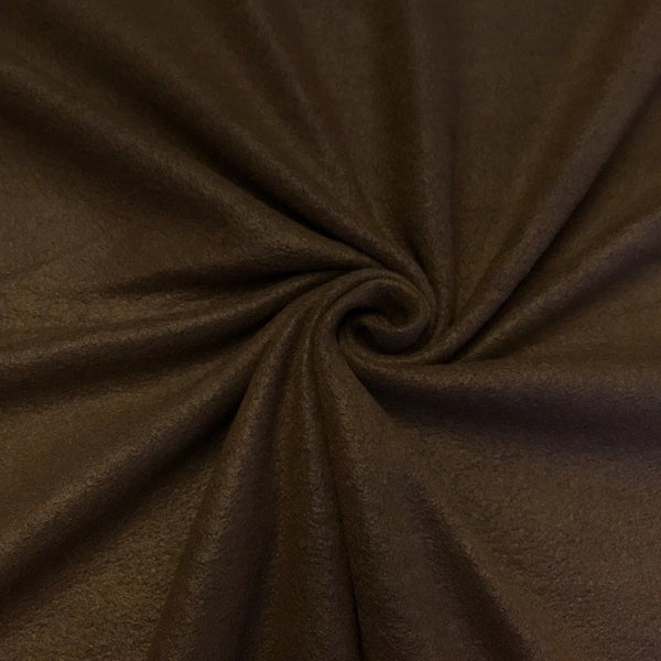Anti Pill Polar Fleece Solid Sold By The Yard Brown